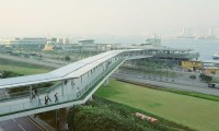 PFC08 Pedestrian bridge, Hong Kong, printed 2010, 100 x 100 cm archival digital print, ed 10