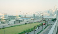 PFC09 Harbour and foreshore, Hong Kong, printed 2011, 1100 x 1100 mm archival digital print, ed 10