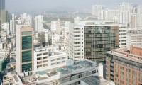 PFC02 View to harbour from apartment, Kowloon, printed 2011, 1100 x 1100 mm archival digital print, ed 10