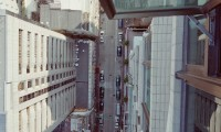 PFC01 View to street from Kowloon apartment, printed  2011, 1100 x 1100 mm archival digital print, ed 10