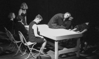 Stolen Time 1986, performance, table scene